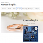 Upload featured and background wishlist images